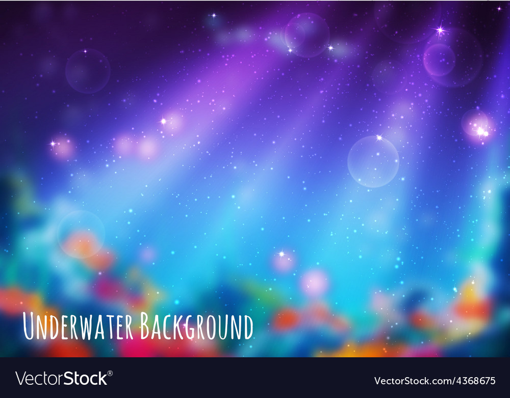 Blur background with underwater cave vector | Price: 1 Credit (USD $1)