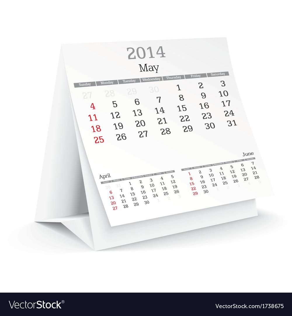 Calendar design vector | Price: 1 Credit (USD $1)