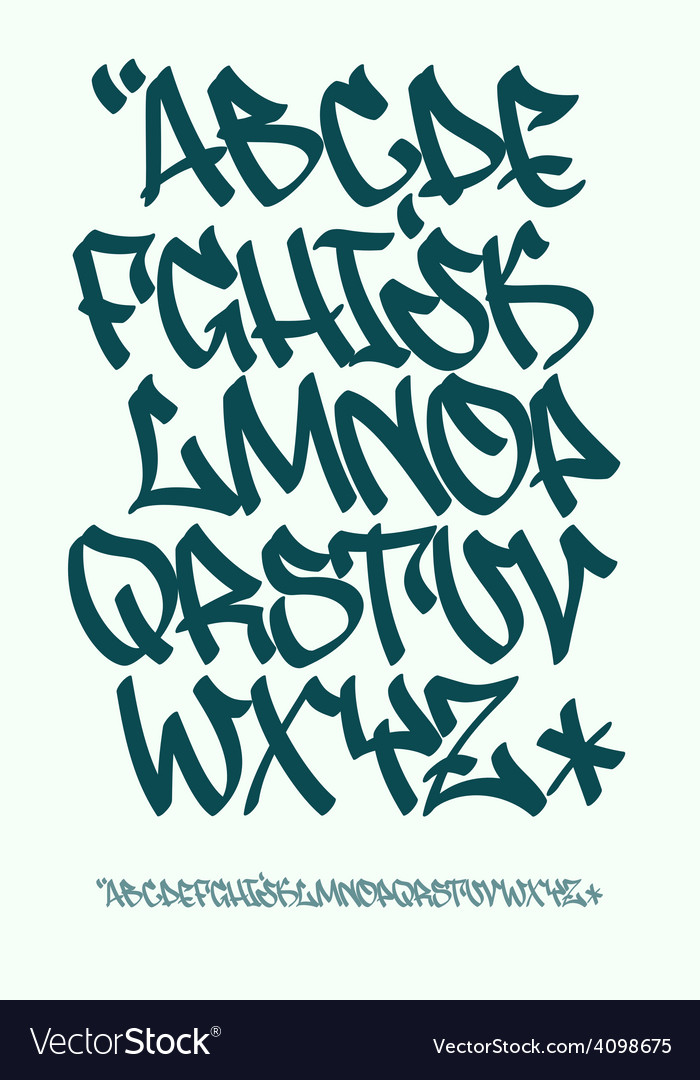Graffiti font - hand written - alphabet vector | Price: 1 Credit (USD $1)