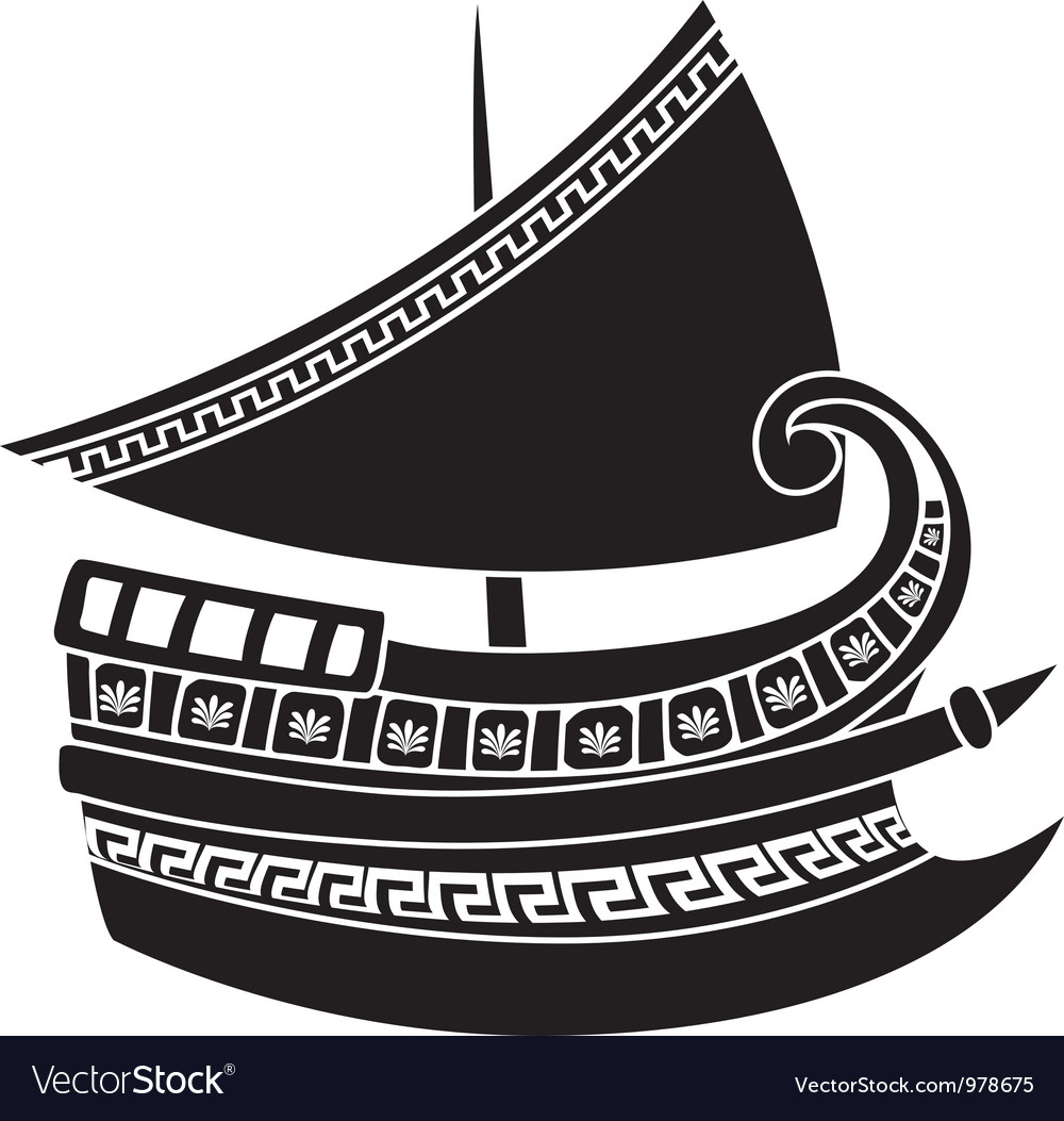 Greek ship vector | Price: 1 Credit (USD $1)