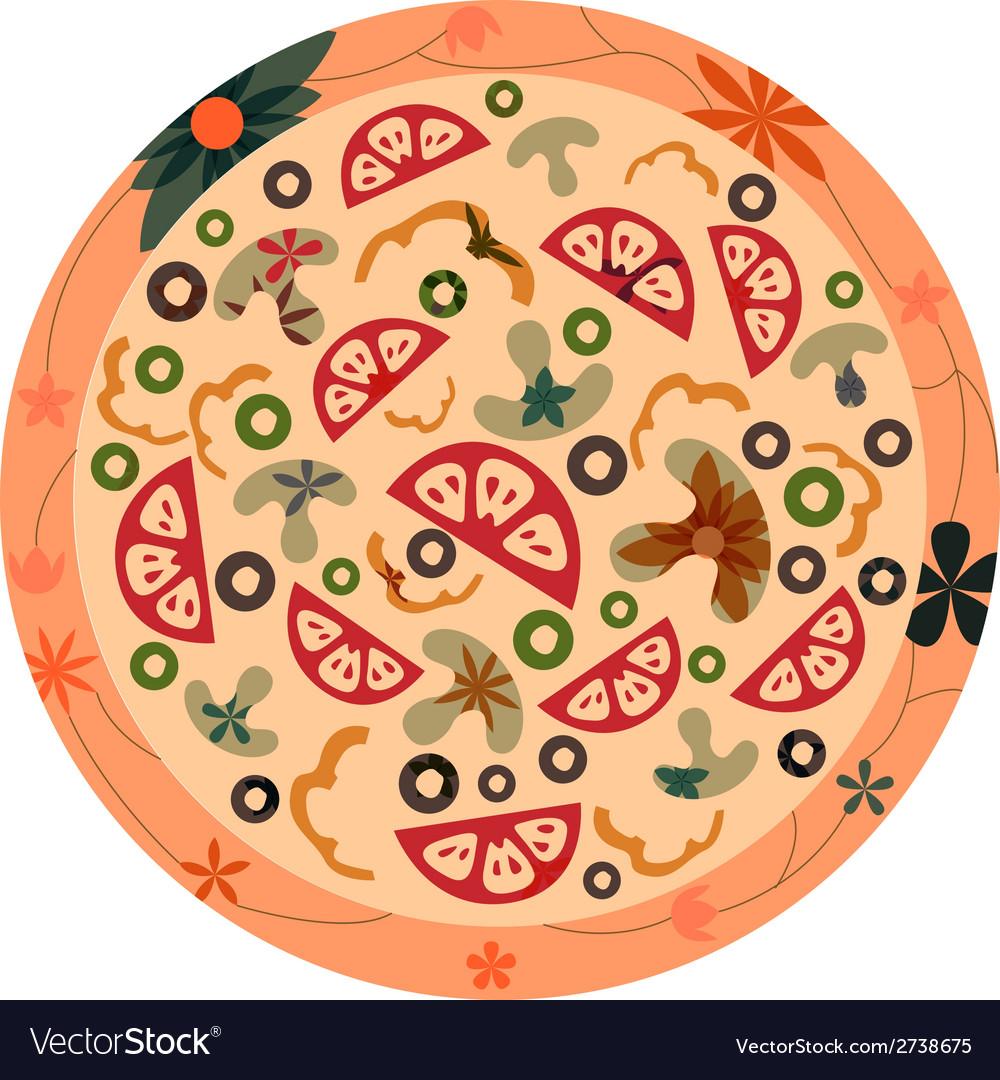 Retro pizza vector | Price: 1 Credit (USD $1)