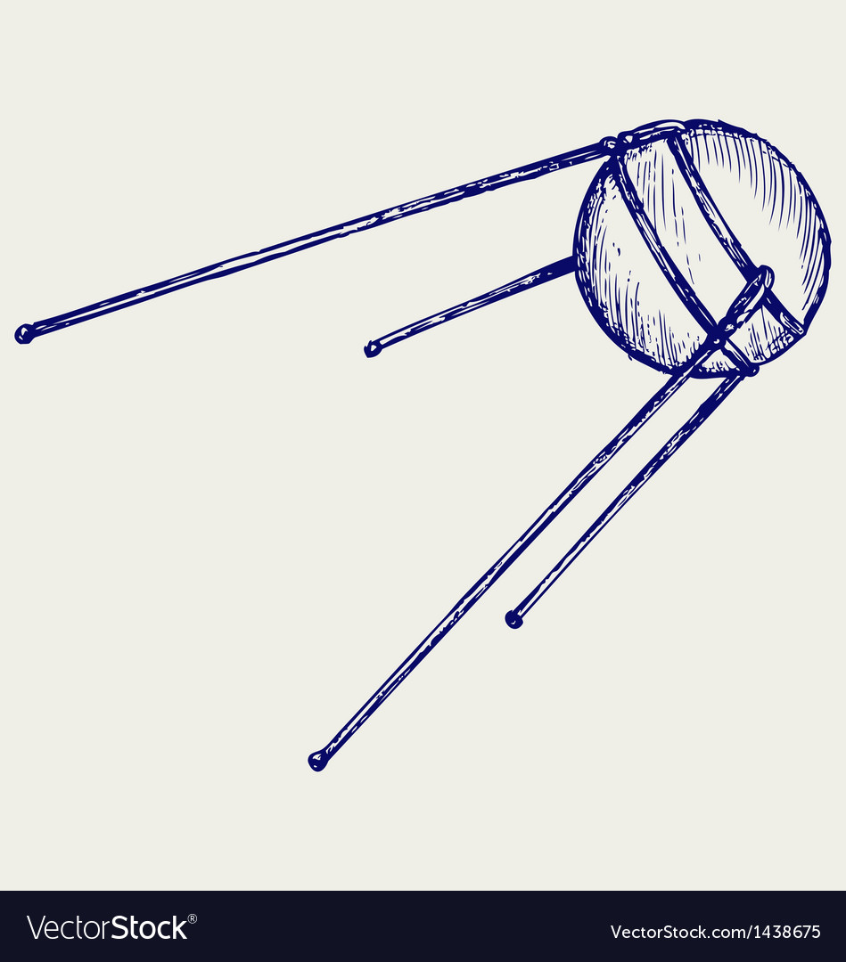 Soviet satellite vector | Price: 1 Credit (USD $1)