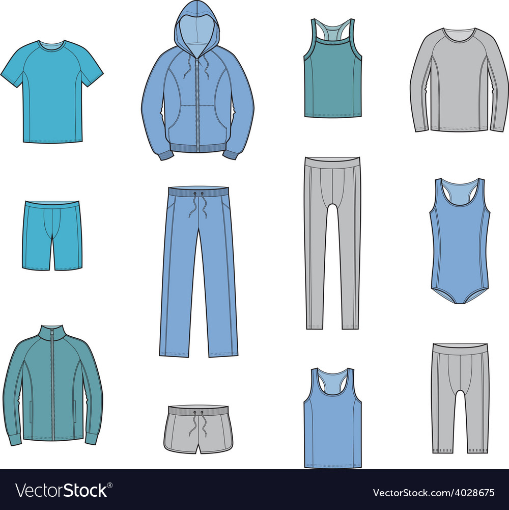 Sport clothes vector | Price: 1 Credit (USD $1)