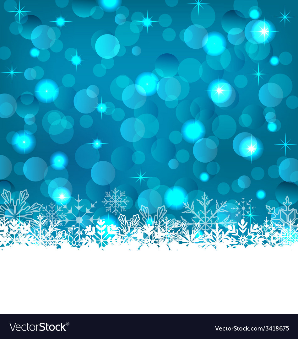 Winter frozen snowflakes background with copy vector | Price: 1 Credit (USD $1)