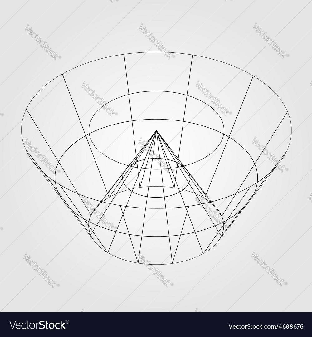3d wireframe render object vector | Price: 1 Credit (USD $1)