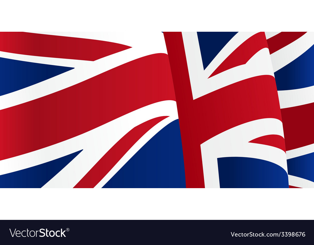 Background with waving great britain flag vector | Price: 1 Credit (USD $1)