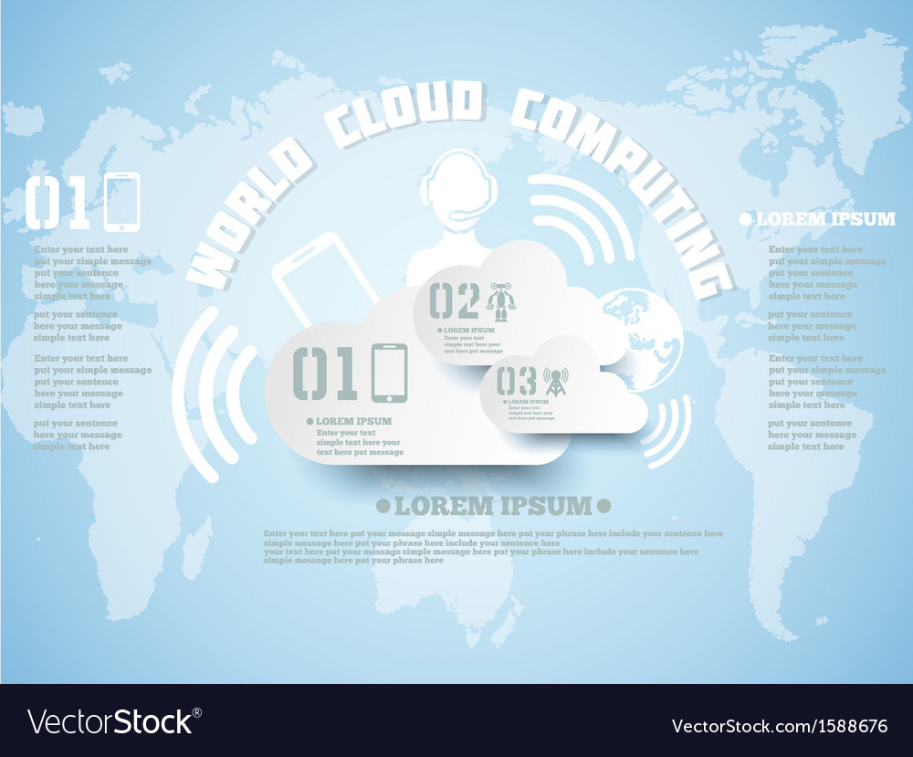 Cloud computing background new style vector | Price: 1 Credit (USD $1)