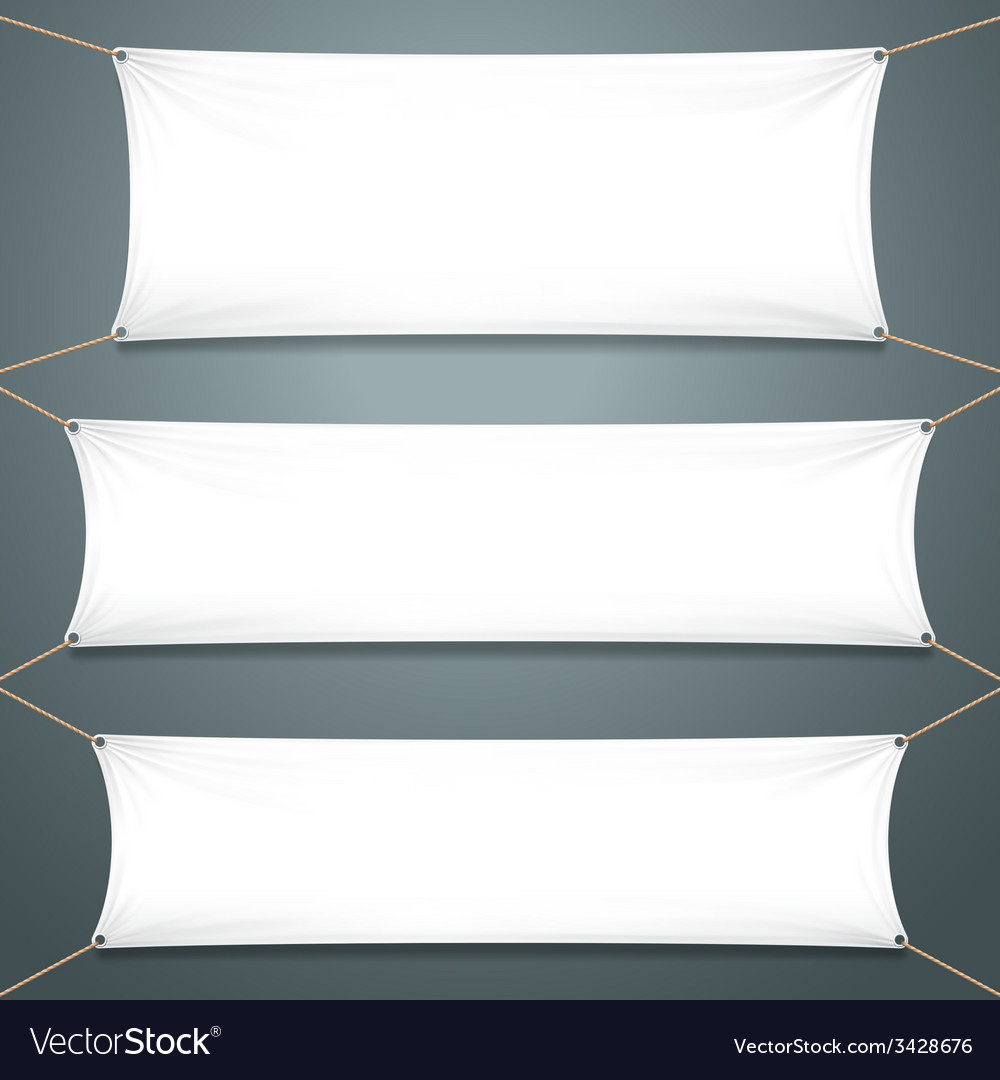 Empty white banners vector | Price: 1 Credit (USD $1)