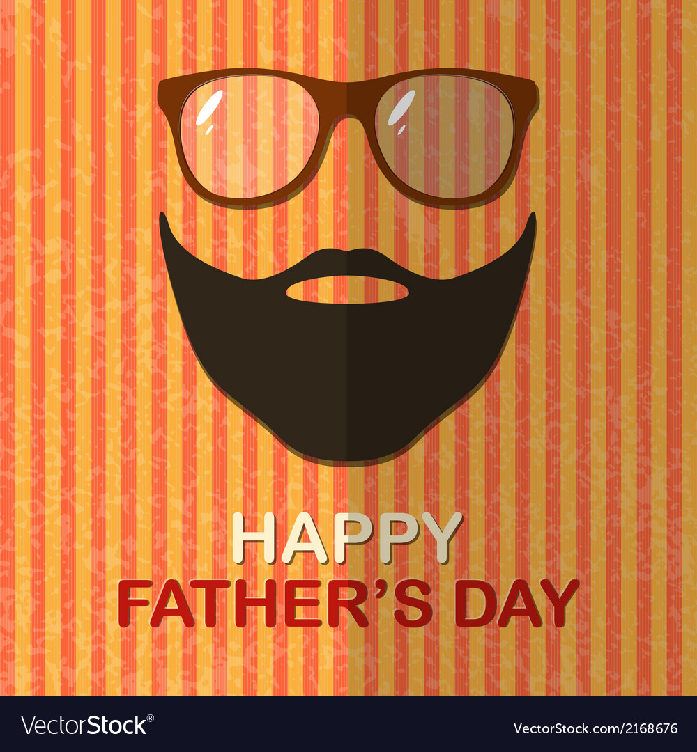 Father day card vector | Price: 1 Credit (USD $1)