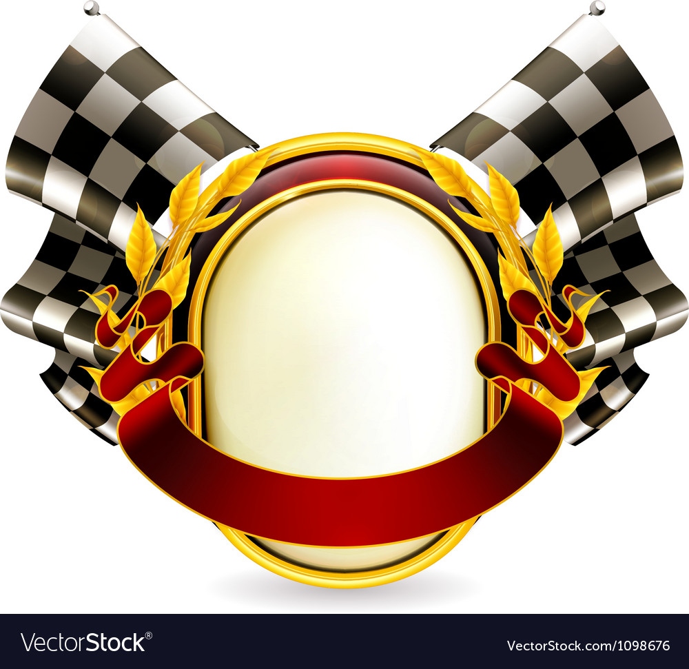 Flag checkered emblem vector | Price: 3 Credit (USD $3)