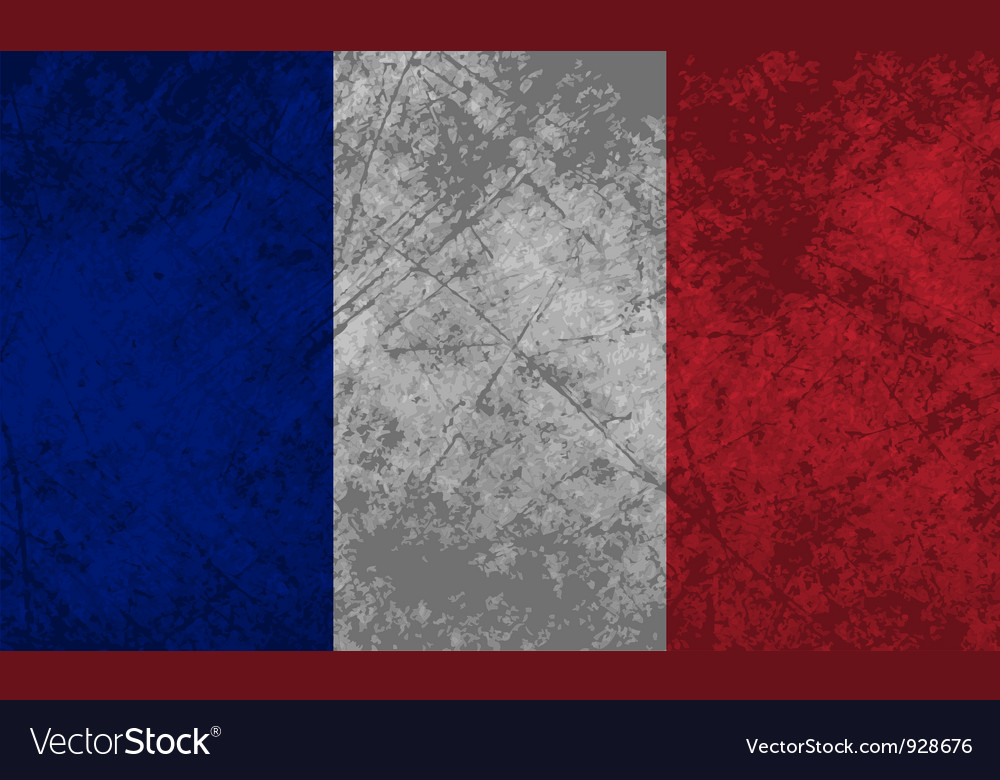 French flag grunge vector | Price: 1 Credit (USD $1)