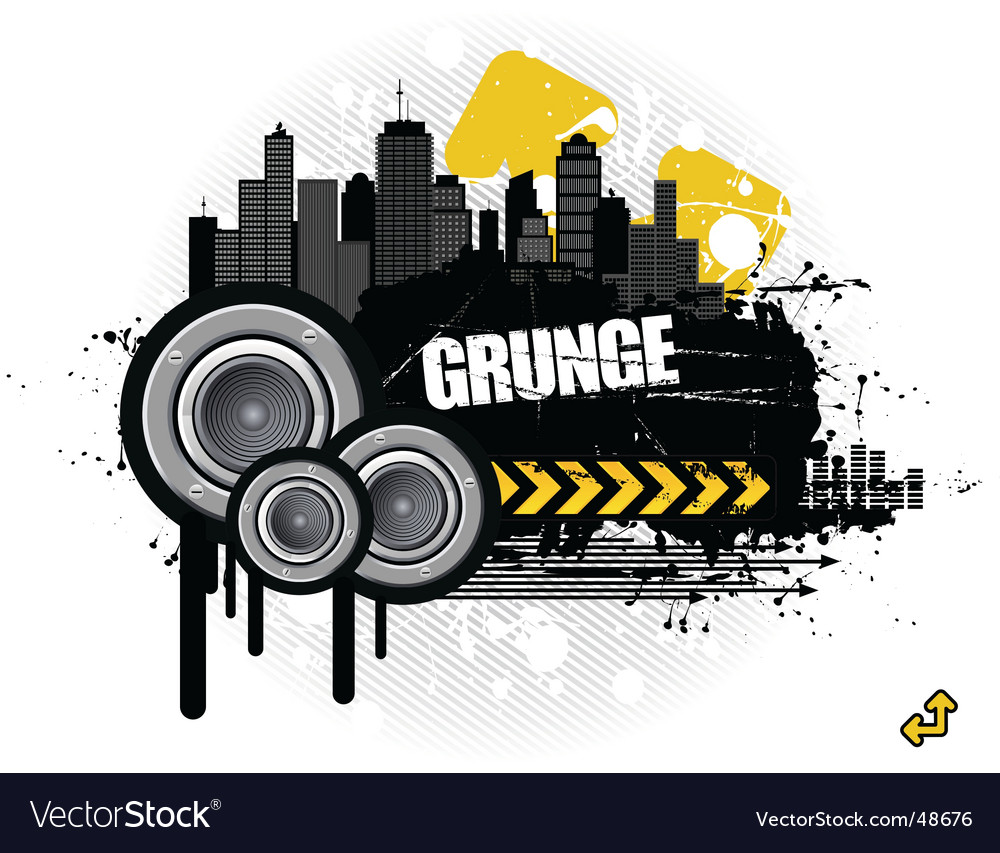 Grunge urban scene vector | Price: 1 Credit (USD $1)