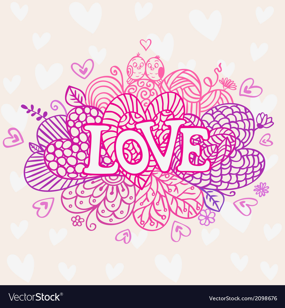 Love abstraction vector | Price: 1 Credit (USD $1)