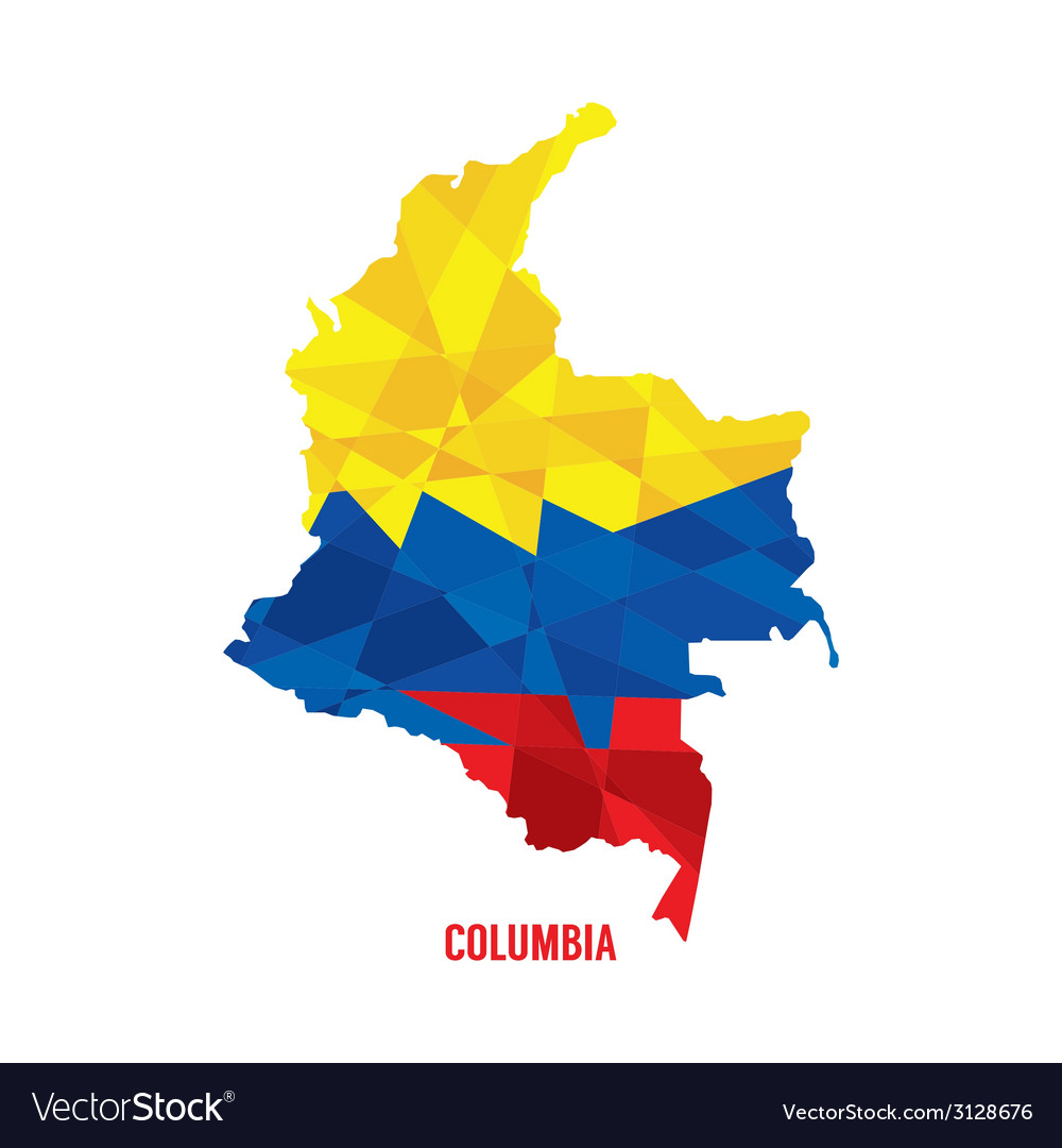 Map of columbia vector | Price: 1 Credit (USD $1)
