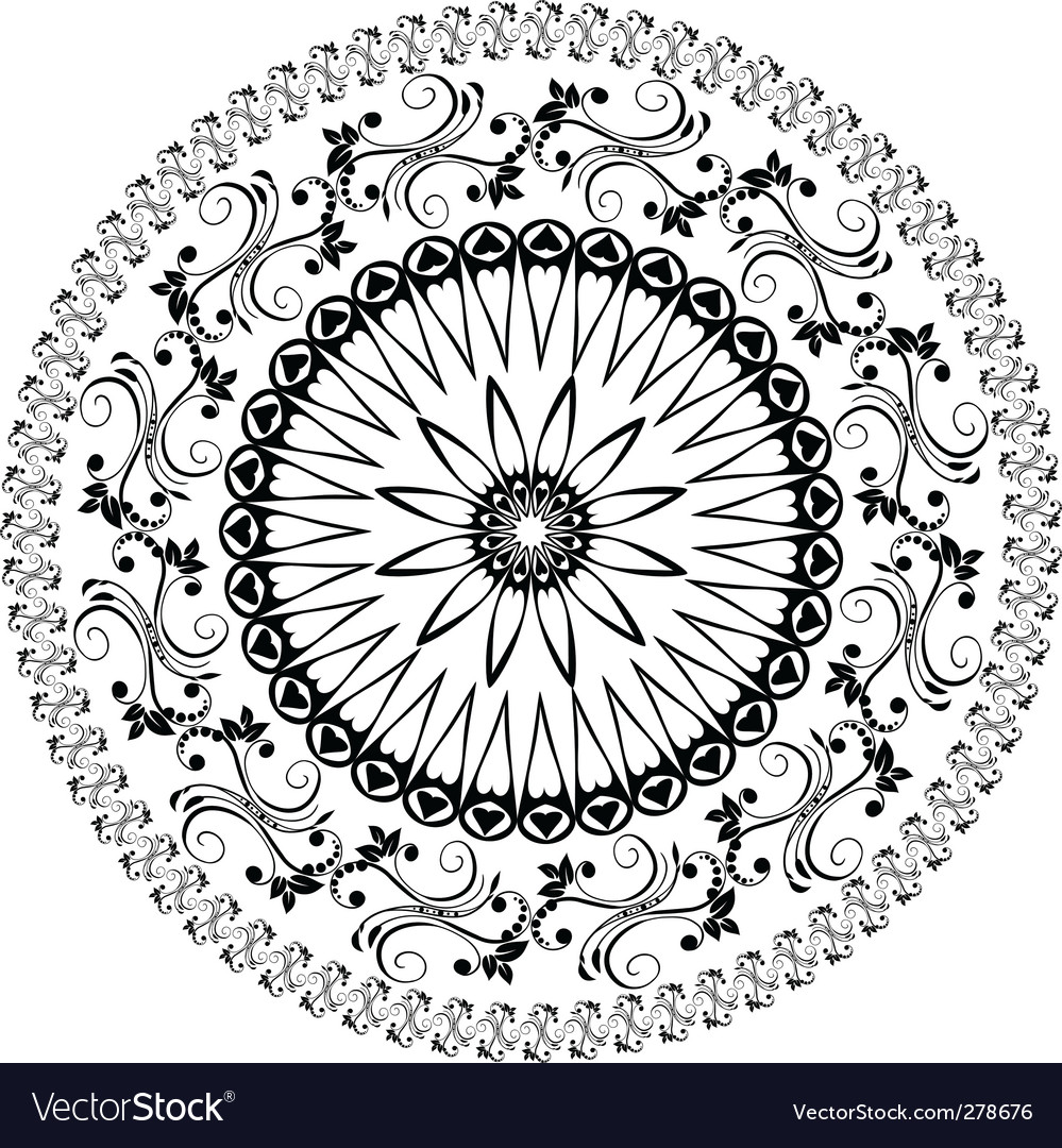 Oriental arabesques pattern vector | Price: 1 Credit (USD $1)
