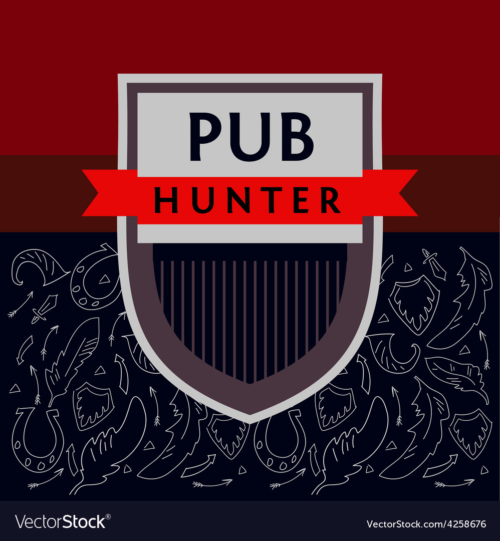 Pub hunter logo and background with the image of vector | Price: 1 Credit (USD $1)