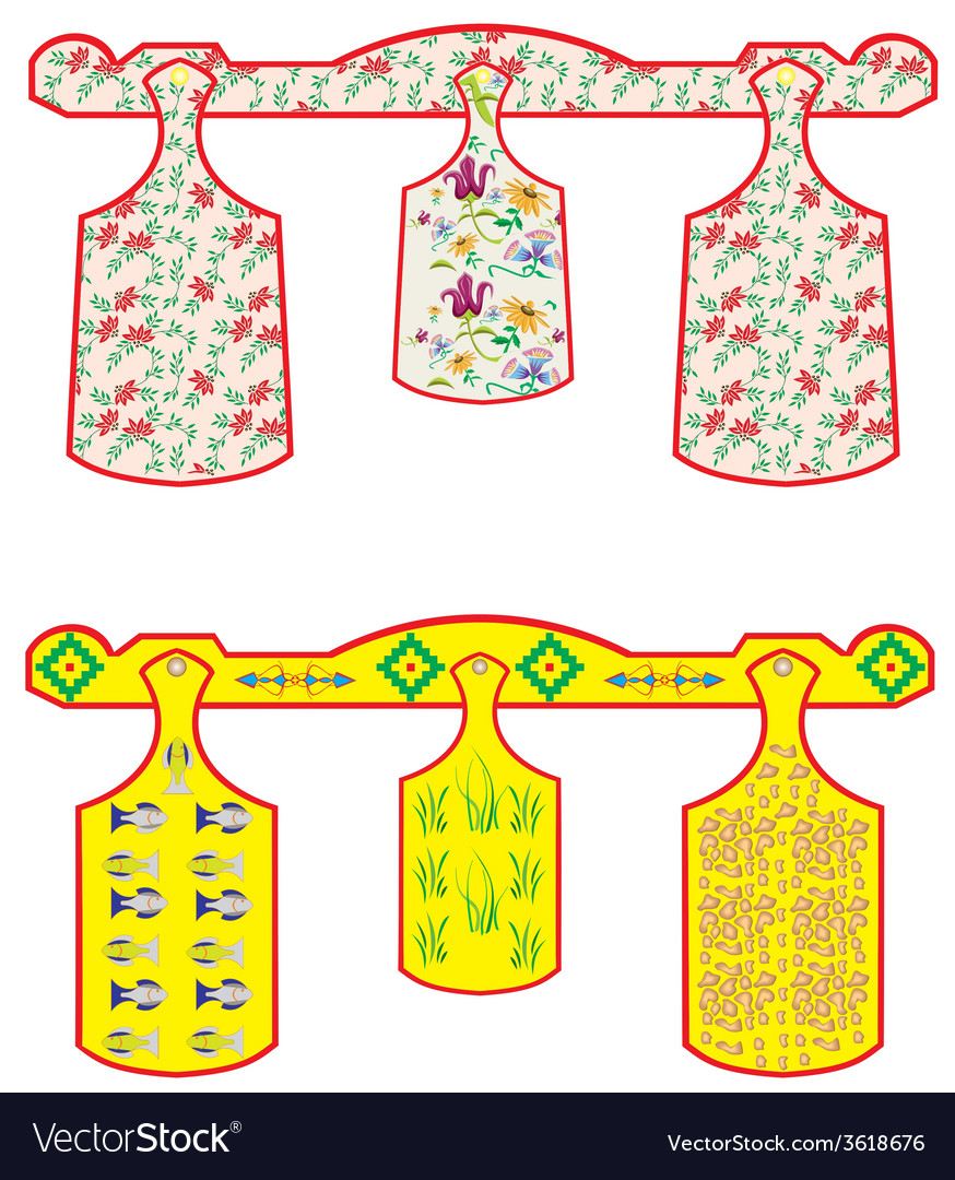 Set of chopping boards vector | Price: 1 Credit (USD $1)