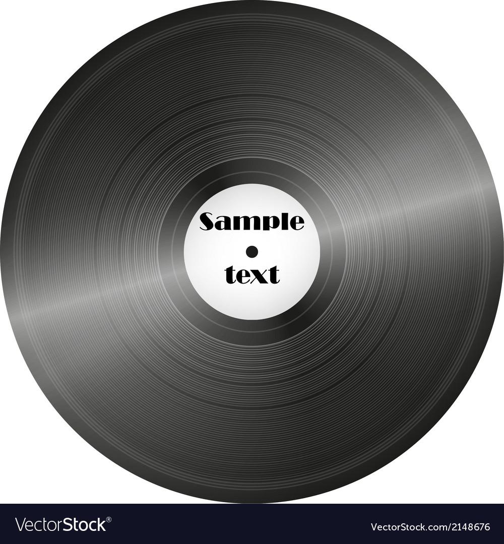 Vinyl record retro music disc background vector | Price: 1 Credit (USD $1)