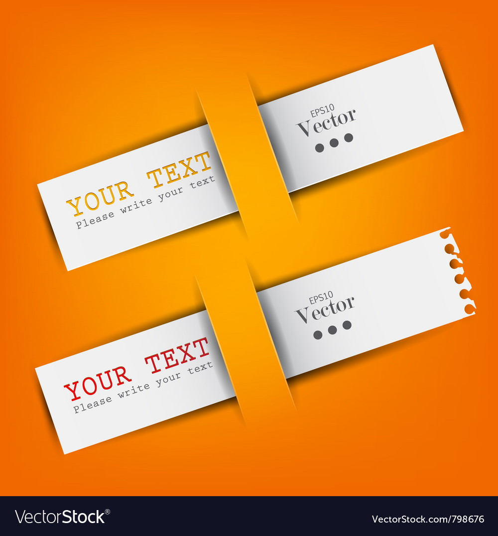 White paper bookmarks with place for text vector | Price: 1 Credit (USD $1)