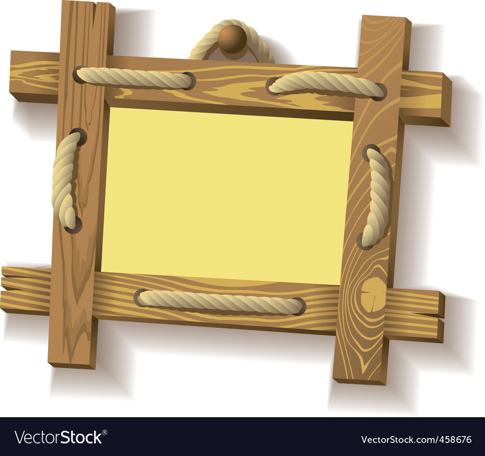 Wooden frame with rope vector | Price: 1 Credit (USD $1)