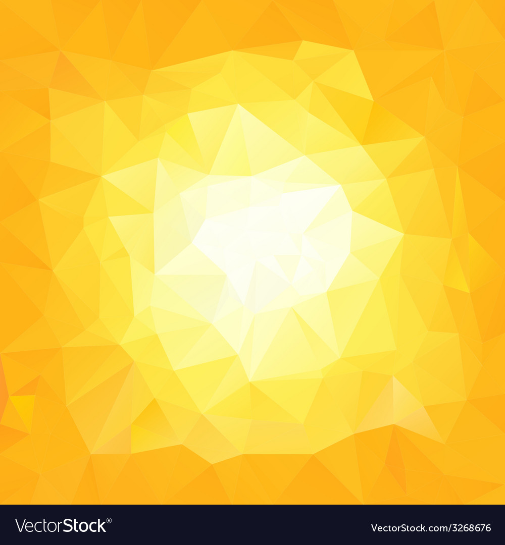 Yellow sun triangular background vector | Price: 1 Credit (USD $1)