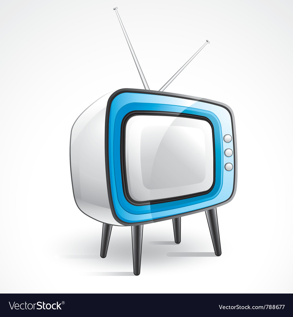 Antique television vector | Price: 3 Credit (USD $3)