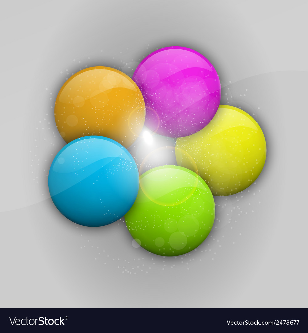 Balls in colors vector | Price: 1 Credit (USD $1)