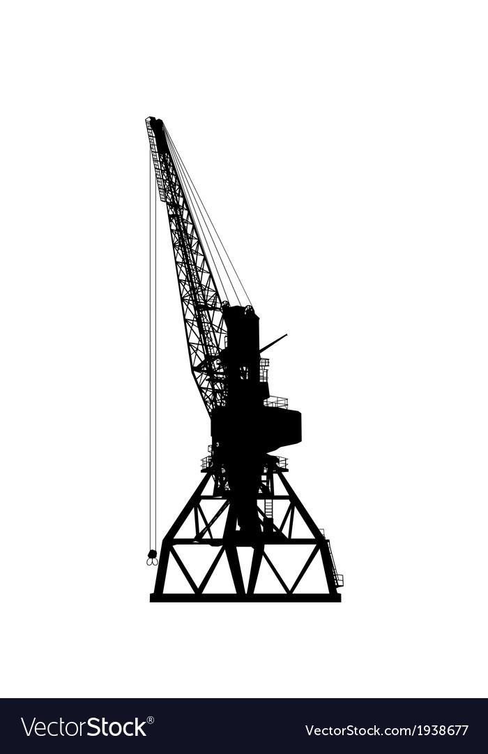 Building crane silhouette vector   Price: 1 Credit (USD $1)