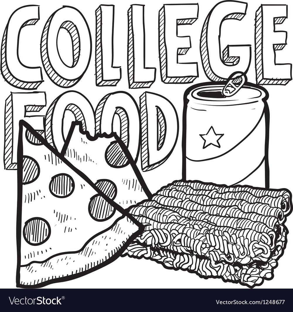 College food vector | Price: 1 Credit (USD $1)