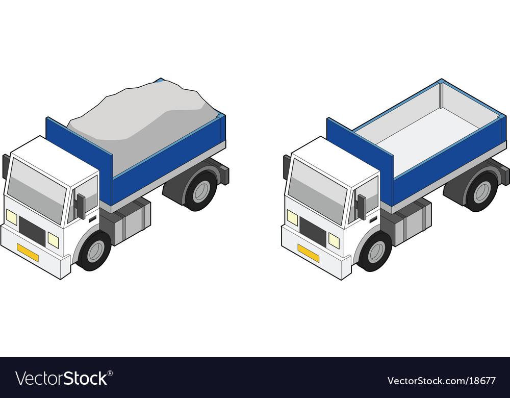 Dumper truck icon vector | Price: 3 Credit (USD $3)