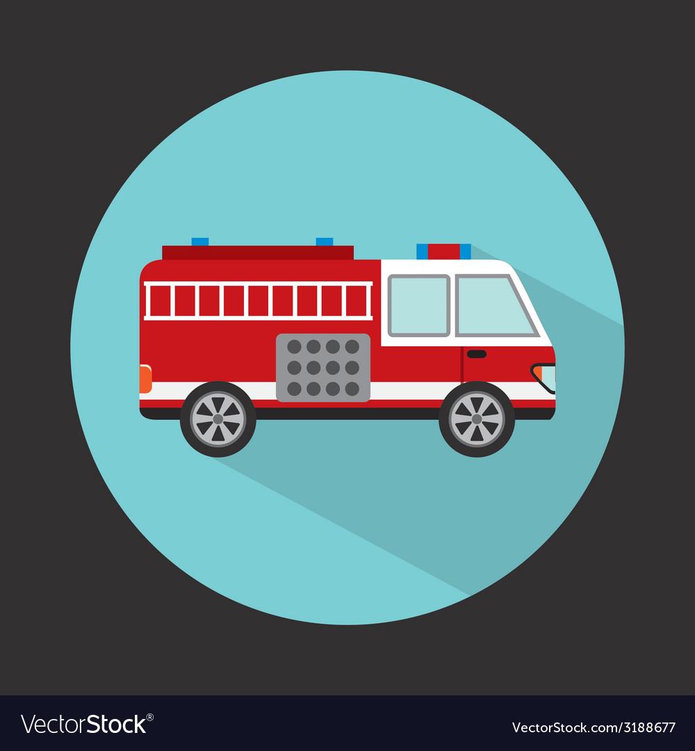 Fire truck design vector | Price: 1 Credit (USD $1)