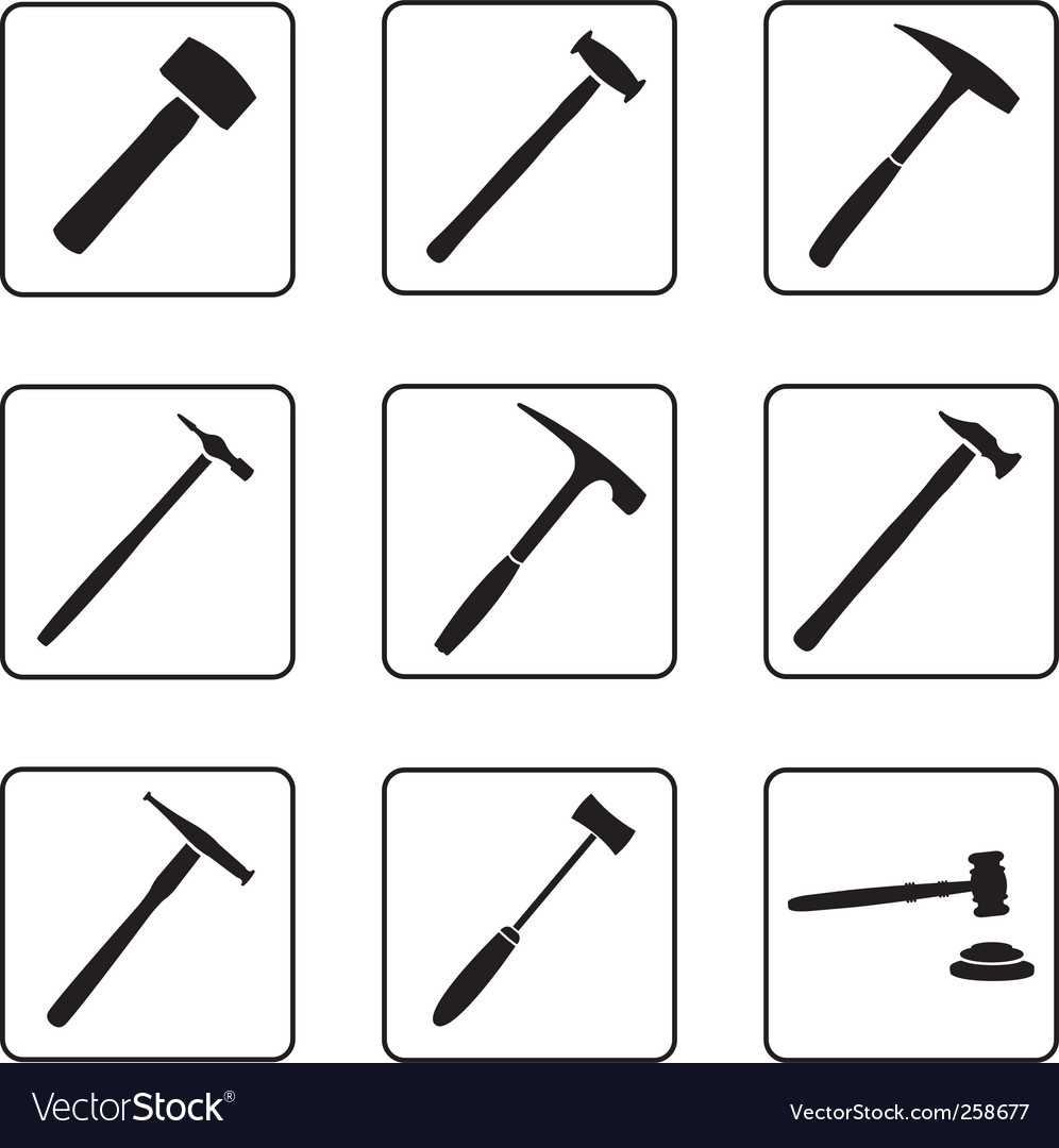 Hammers vector | Price: 1 Credit (USD $1)