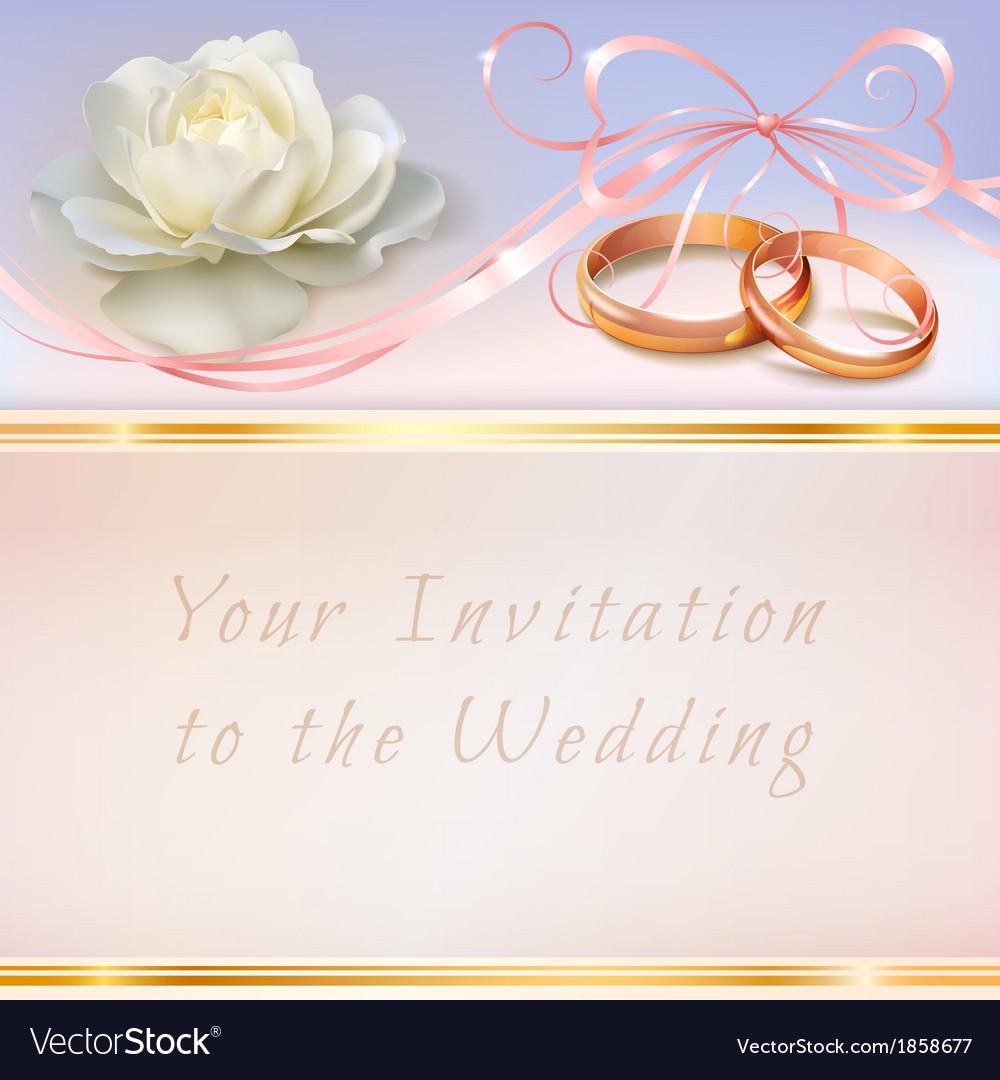 Invitation wedding card vector | Price: 1 Credit (USD $1)