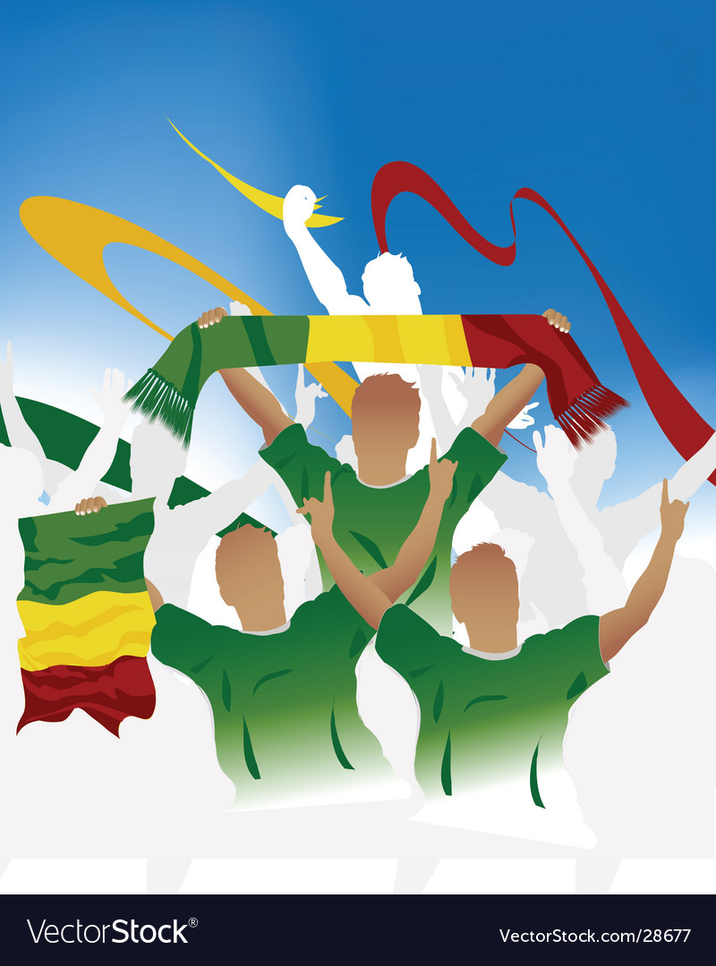Malian soccer crowd vector | Price: 1 Credit (USD $1)