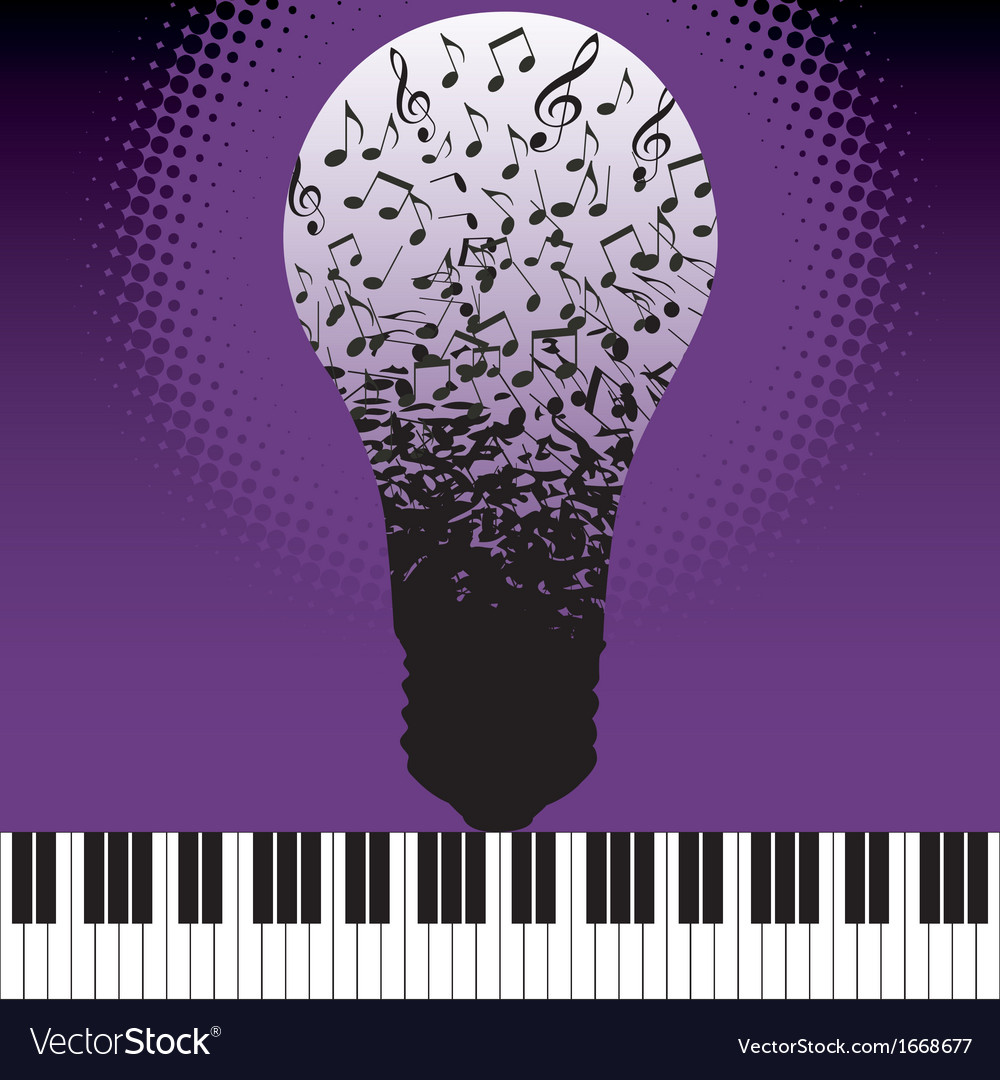 Music notes bulb vector | Price: 1 Credit (USD $1)