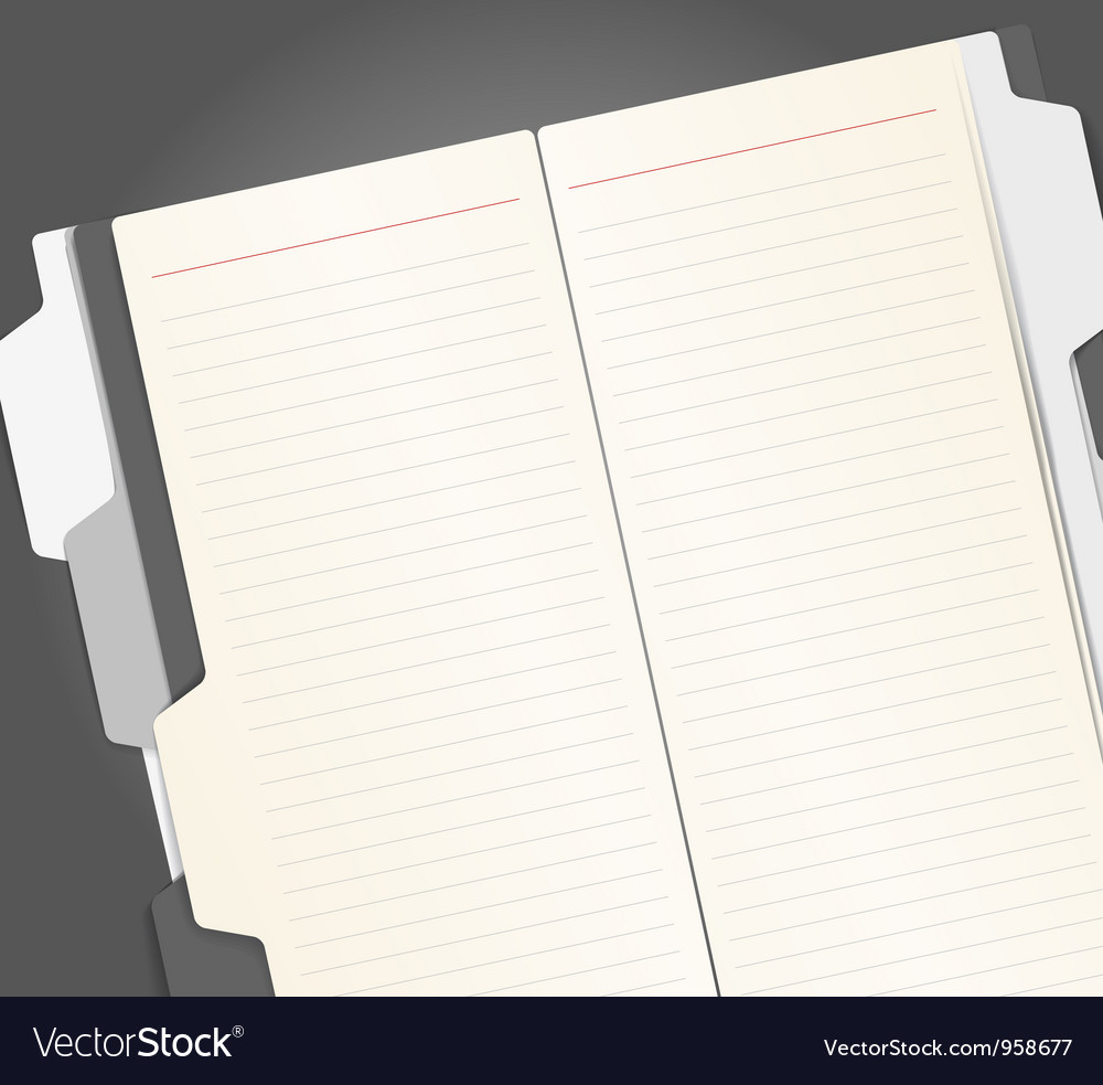 Note-book vector | Price: 1 Credit (USD $1)
