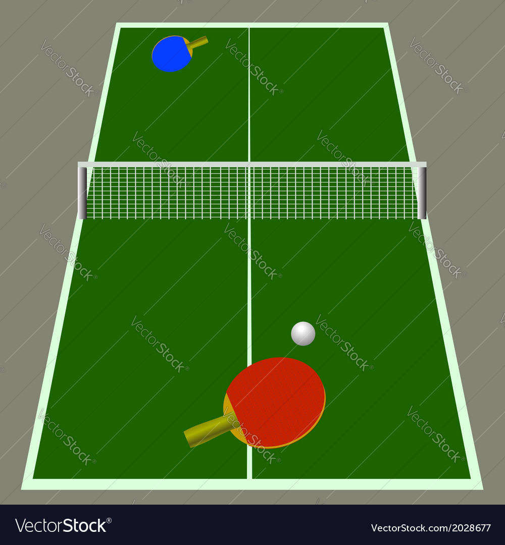 Ping pong game vector | Price: 1 Credit (USD $1)