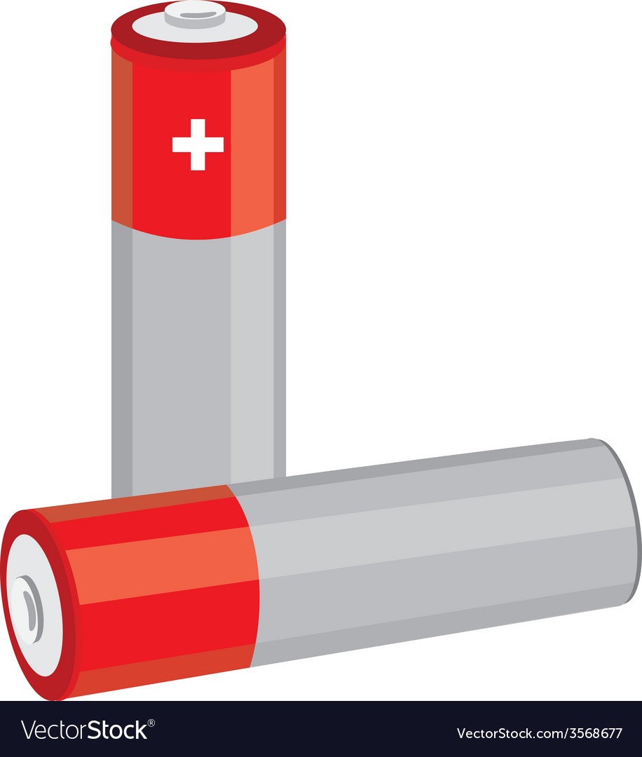Red batteries vector | Price: 1 Credit (USD $1)