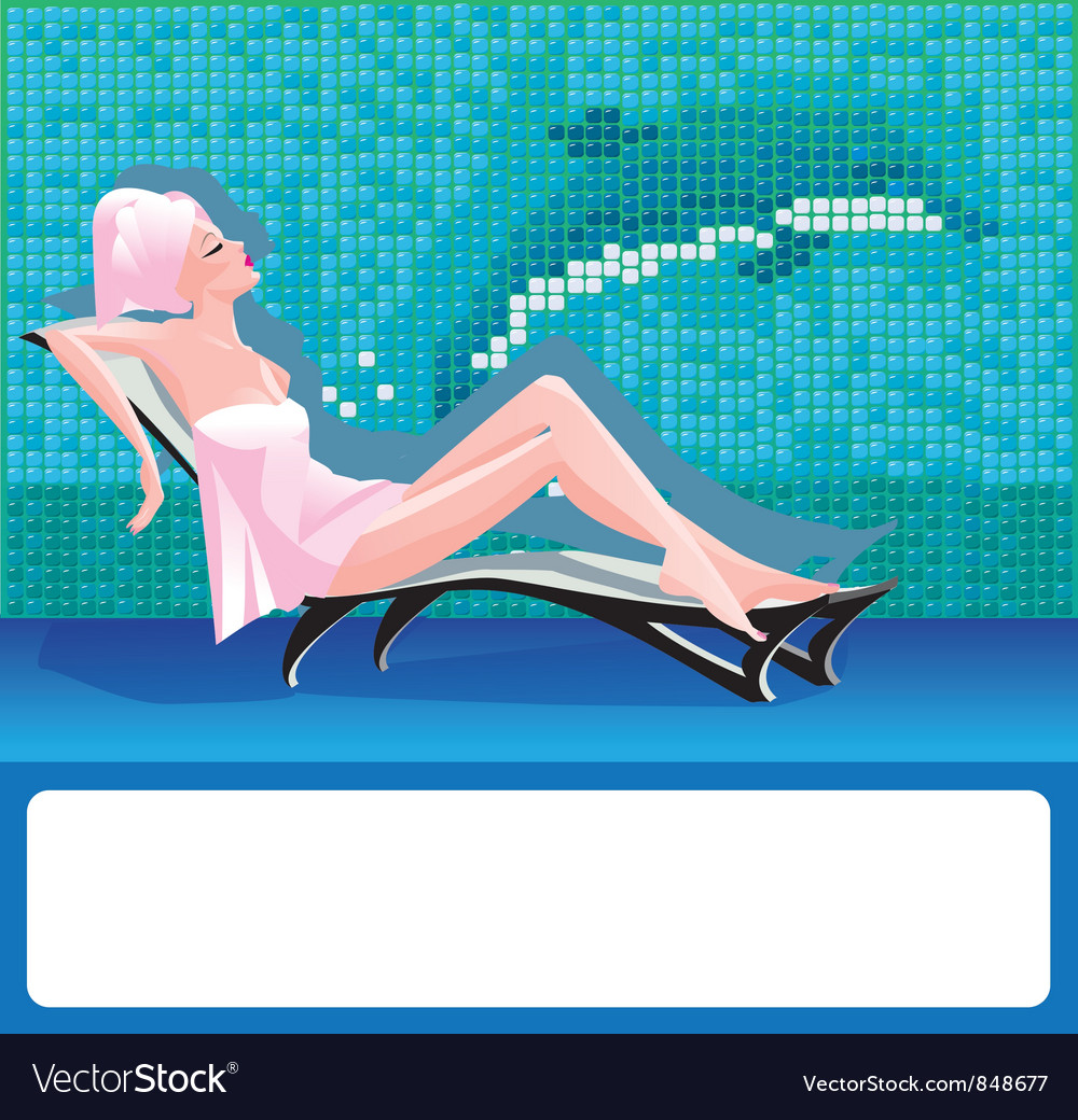 Woman in spa center vector | Price: 3 Credit (USD $3)