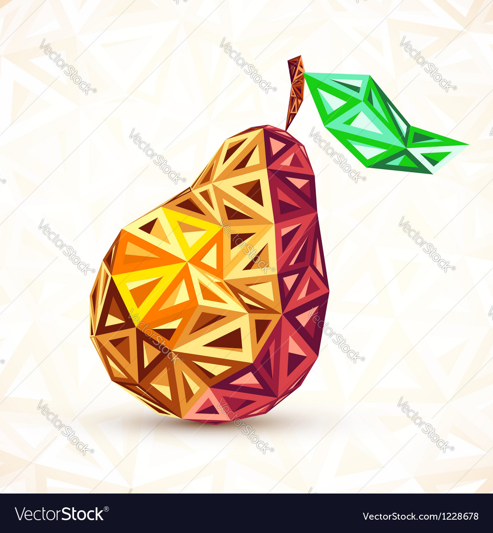 Abstract vintage colors triangles pear vector | Price: 1 Credit (USD $1)