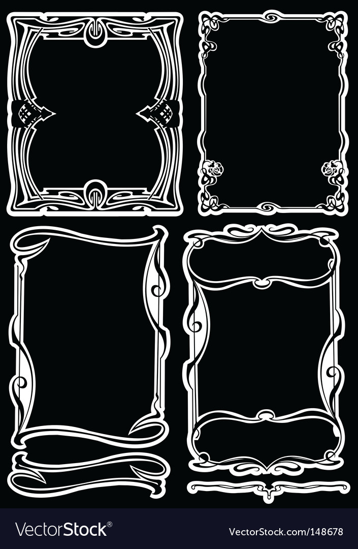 Art deco frames vector | Price: 1 Credit (USD $1)