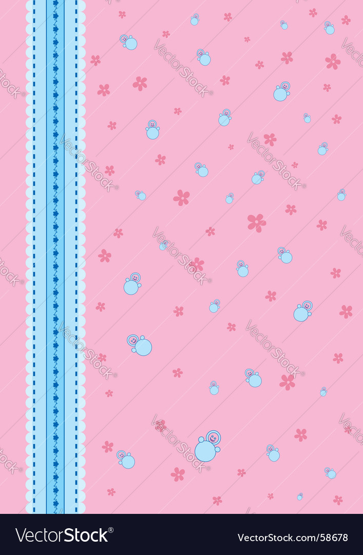 Baby background pink vector | Price: 1 Credit (USD $1)