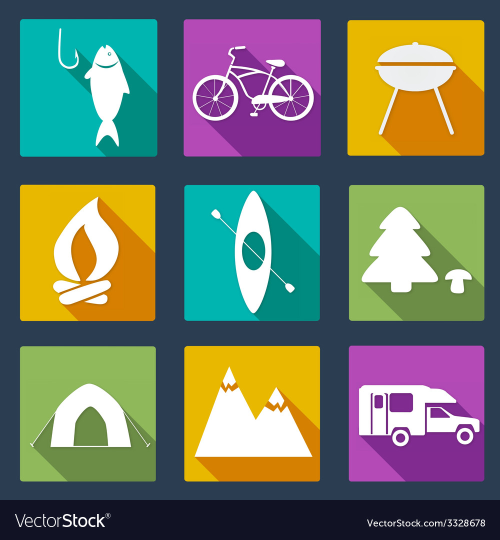 Campingicons5 vector | Price: 1 Credit (USD $1)