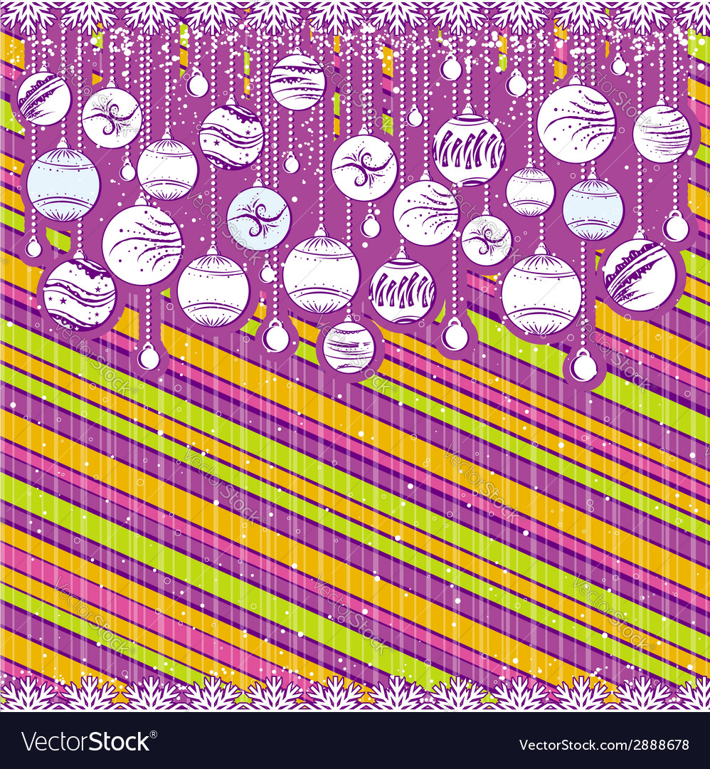 Color card with christmas balls vector | Price: 1 Credit (USD $1)