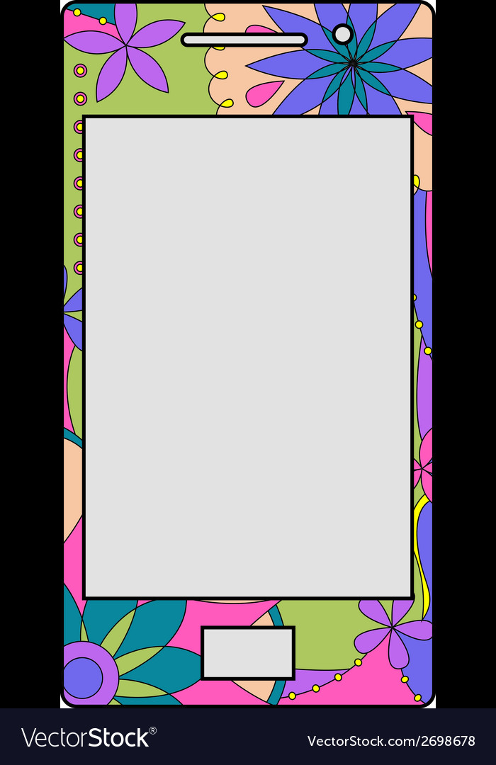 Colorful mobile phone vector   Price: 1 Credit (USD $1)