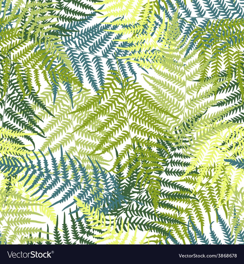Fern seamless pattern vector | Price: 1 Credit (USD $1)