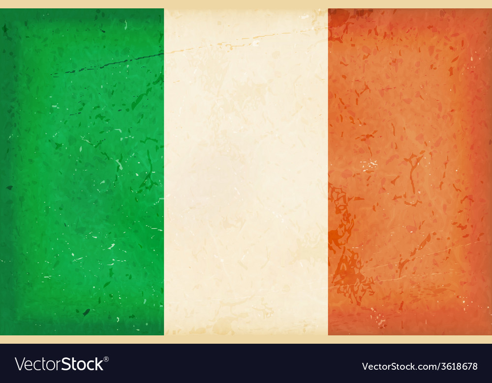 Flag of ireland with grunge elements vector | Price: 1 Credit (USD $1)
