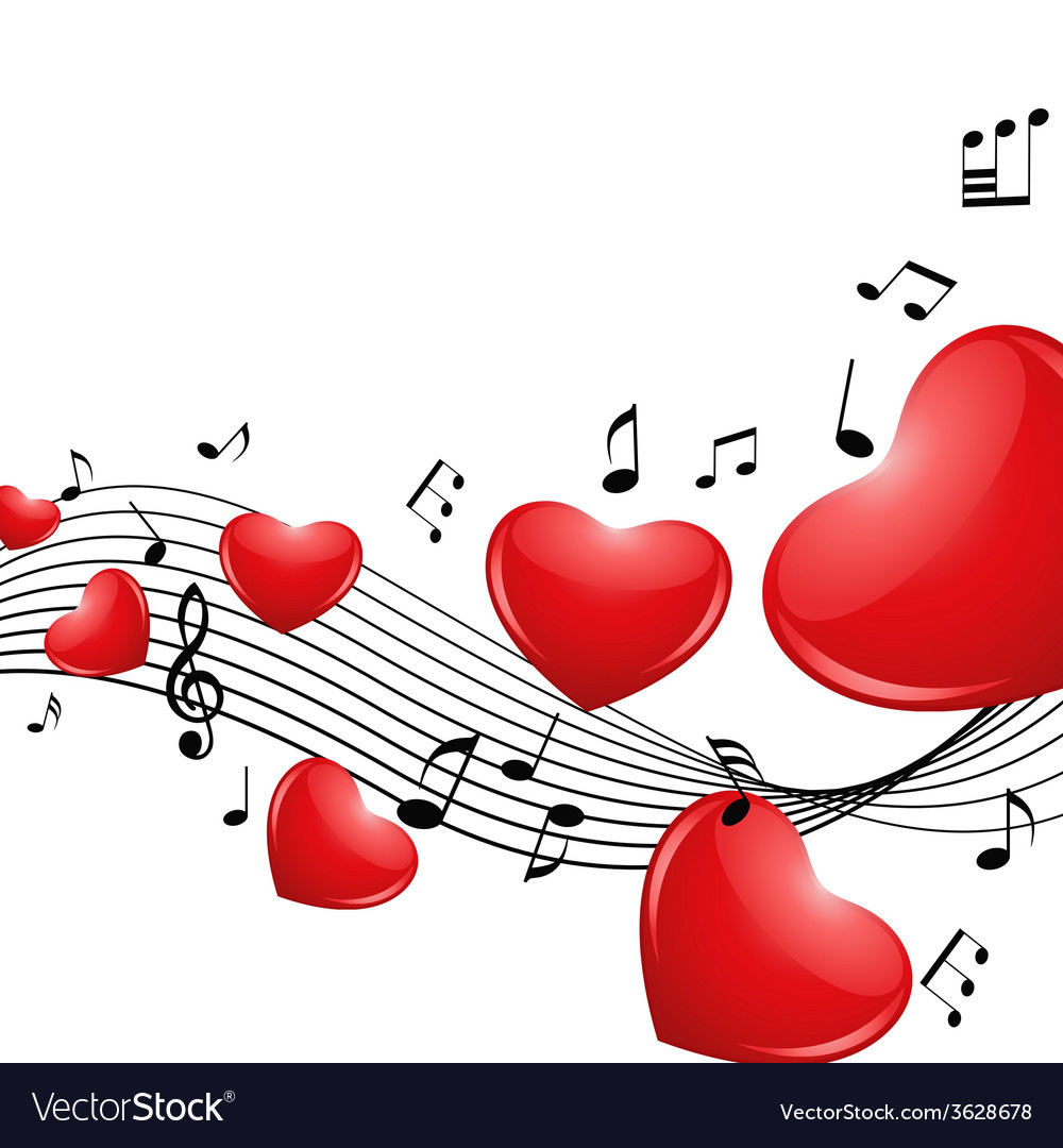 Melody of love vector | Price: 1 Credit (USD $1)