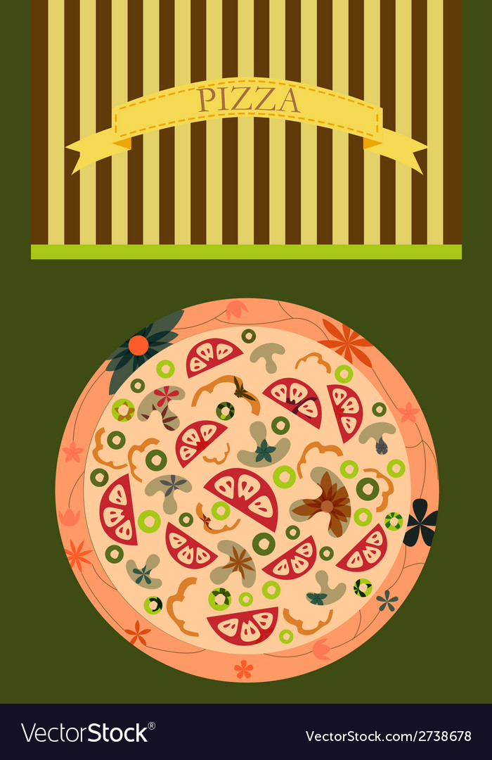 Pizza background vector | Price: 1 Credit (USD $1)
