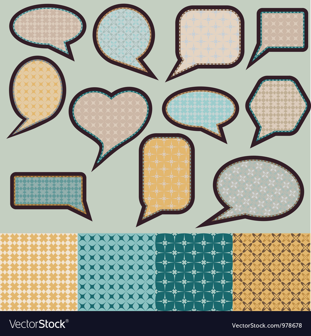 Speech bubbles made of paper with geometric vector | Price: 1 Credit (USD $1)